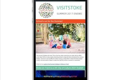 Sign up to the VisitStoke Enewsletter