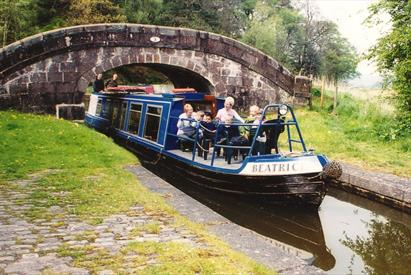 Canal near Hazelhurst with narrowboat Beatrice