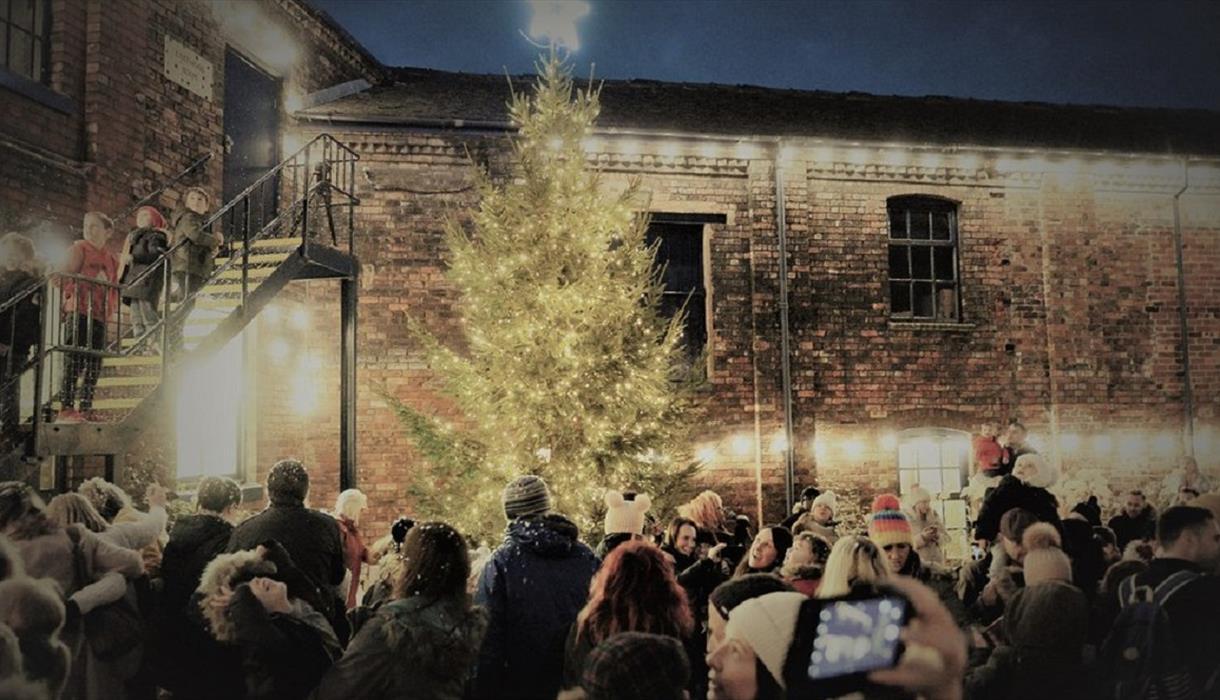 Christmas Lights Switch On & Lantern Parade at Emma Bridgewater