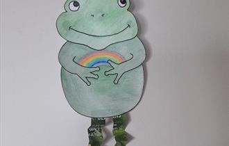 Make a Springy-Legged Frog  (Home Activity)